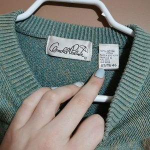 Vintage Sweaters - Vintage Knit Golfing Sweater